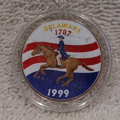 1999  Delaware - Colorized - Kennedy Half Dollar - Statehood - 50 Cent Coin