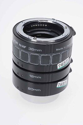 Kenko Extension Tube Set, 12mm,20mm,36mm for Nikon AF                       #657