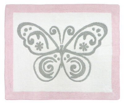 Sweet Jojo Design Baby Kid Floor Rug For Girl Damask Pink Grey Alexa Bedding Set