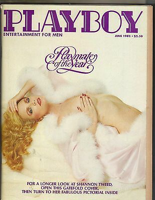 SHANNON TWEED Playboy Magazine 6/82 PLAYMATE OF THE YEAR