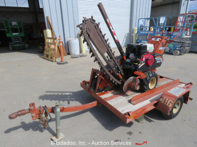2003 Ditch Witch 1330 Walk Behind Trencher Honda Engine w/ S/A Trailer