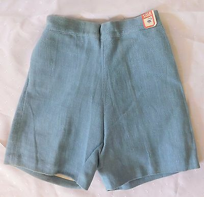 Vintage childrens AERTEX Shorts 1930s Shop soiled School uniform Sports kit Grey