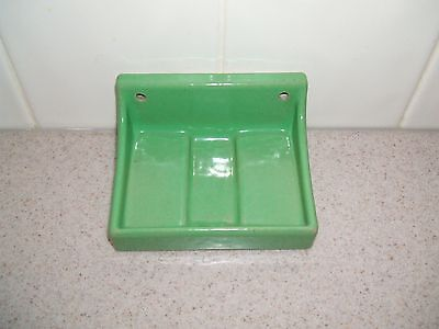 Vintage 1940s 50s  Green  SOAP DISH   WALL Restoration Project