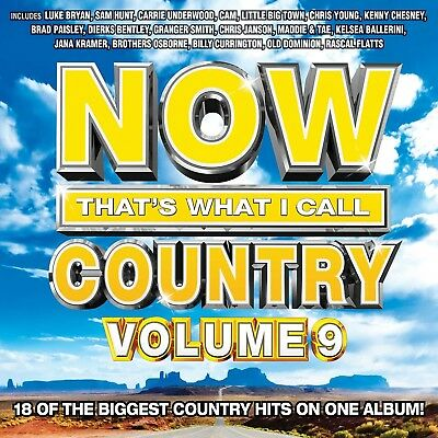 Now That's What I Call Country, Vol. 9 by Various Artists (CD, Jun-2016) NEW