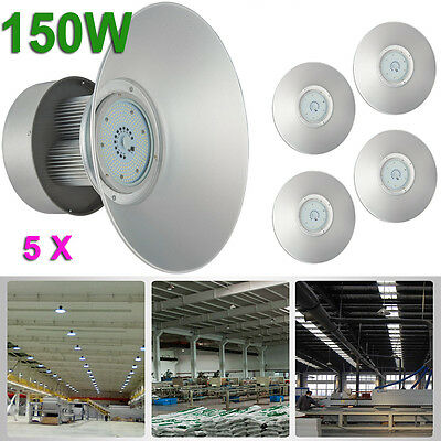 5 x 150W LED High Bay Lamp Commercial Warehouse Industrial Factory Shed Lighting