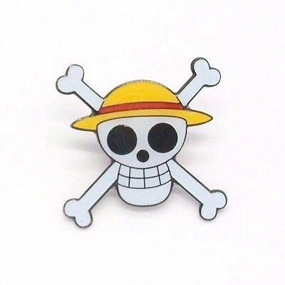 Anime One Piece Jolly Roger Metal Pin Badge ~Brand New~ Clutch Backing~