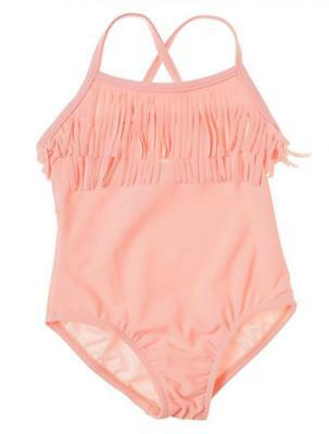 Carter's Girls One Piece Salmon Fringed Swimsuit Size 2T 3T 4T 5