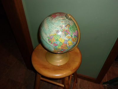 "Replogle World Scholar Series 9"" Raised World Globe, Metal Base"