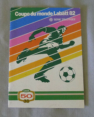 Original 1982 Official World Cup Soccer TV Schedule