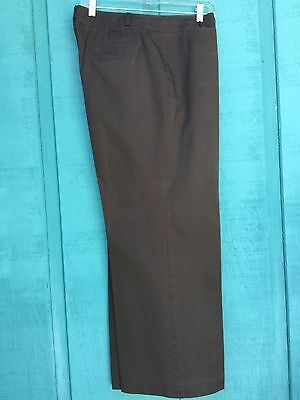 16P Talbots Stretch Casual Brown Pants  Full Wide Legs