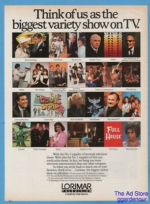 1987 Lorimar Television ThunderCats Max Headroom Dallas Alf Full House Gumby ad