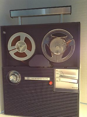 Vintage Webcor Reel to Reel Tape Player Recorder 2929 For Parts or Repair