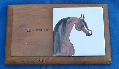 Hand Painted Tile Arabian Horse Susar Farm Inc High Point Award Texas Texana TX