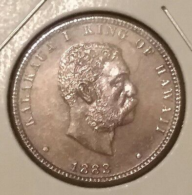1883 Kingdom of Hawaii silver quarter dollar