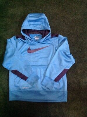 Boys Nike Therma-Fit Hoodie Size Youth Medium Bright Blue/Navy Color VGUC