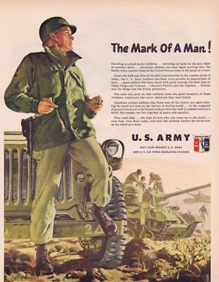 1951 U.S. Army Recruiting Original Vintage Advertisement the Mark of a Man