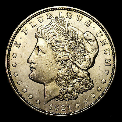 1921 D ~**ABOUT UNCIRCULATED AU**~ Silver Morgan Dollar Rare US Old Coin! #W6