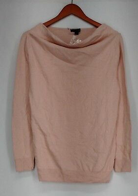H by Halston Sweater S Cowl Neck Long Sleeve Light Pink New