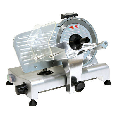"""Commercial 8"""" Blade Electric Deli Meat Slicer 280W Deli Food Veggies Cutter"""