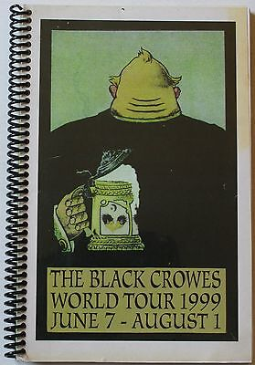 """Rare 1999 Black Crowes World Tour Itinerary 8 1/2 X 6"""" Book Concert Band"""