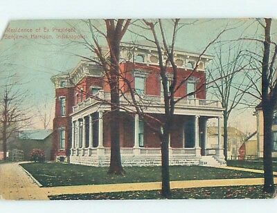 Chipped Pre-1907 PRESIDENT BENJAMIN HARRISON HOME Indianapolis Indiana IN A2857