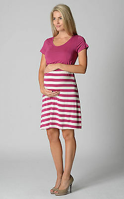 **Ninth Moon - Solid Bodice Breastfeeding Dress **  - Sz XS BERRY  NWT