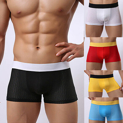 Men's Trunks Underwear - Boxer Briefs Shorts Bulge Pouch Soft Shorts Underpants