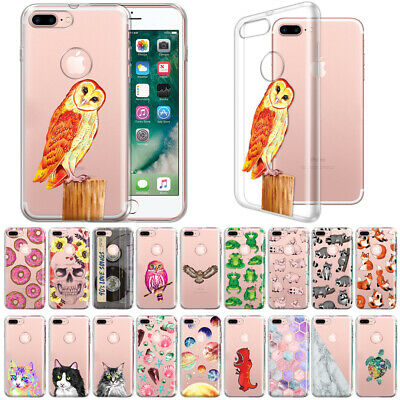 """For Apple iPhone 8 Plus / iPhone 7 Plus 5.5"""" TPU Clear Soft Silicone Case Cover"""