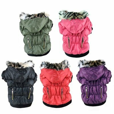 Pet Large Dog Jacket Winter Warm Coat Puppy Clothes Hoodie Padded Apparel XS-XXL
