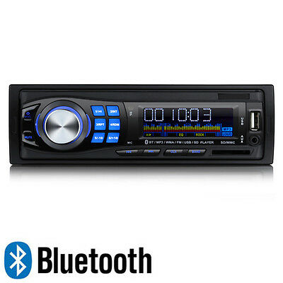 Bluetooth Car Radio Stereo Head Unit Player MP3/USB/SD/AUX-IN/FM Single DIN