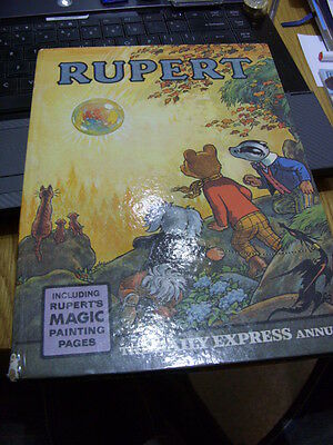 RUPERT Annual-1968 Edition-Un-clipped Price-No Name in Box-Magic Paintings done