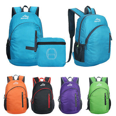 Durable Waterproof Folding Packable Lightweight Travel Hiking Camping Backpack