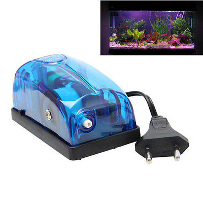 Blue Aquarium Oxygen Fish Air Pump Tank Energy Super Silent Single Outlet