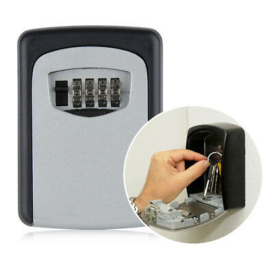 High Security Outdoor Wall Mounted Key Safe Box Secure Lock Combination Out F2
