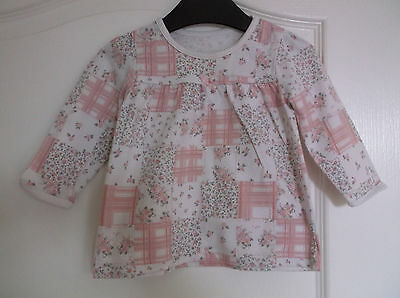 Baby Girls Pink Floral Tunic Top + Red T-Shirt age 9-12 months Next  George