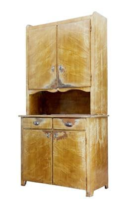 1930's SWEDISH PINE DISTRESSED PAINTED KITCHEN CUPBOARD