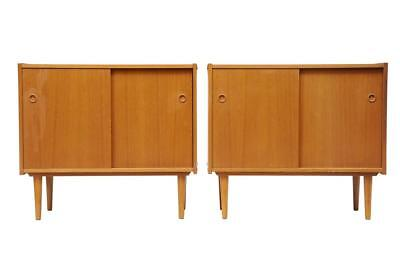 PAIR OF SMALL 1960's DANISH TEAK SIDEBOARDS CABINETS