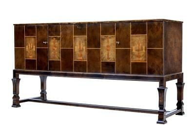 Fine Late Art Deco Birch Inlaid Sideboard Buffet