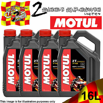 1L 2L 3L 4L 8L 12L 16L Motul 710 2T Fully Synthetic Oil On And Off Road Jaso Fd