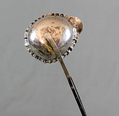 18th 19th Century Silver Toddy Punch Ladle