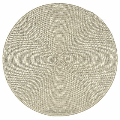 33cm Round Beige Woven Fabric Placemats Table Setting Place Mats Dining Room