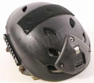 MODIFIED Pro-Tec Helmet w/ Ops-Core Chinstrap & Norotos 3-Hole Shroud Navy SEAL