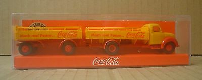 Coca Cola Plastic Truck and Trailer ~ Germany Albedo Forkel ~ New in Package