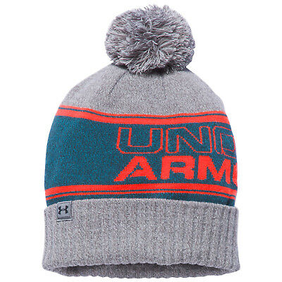 Under Armour Mens Pom Beanie Hat - New UA Warm Winter Cap Thermal Bobble Sports