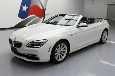 2016 BMW 6-Series Base Convertible 2-Door 2016 BMW 640I CONVERTIBLE HTD LEATHER NAV REAR CAM 30K #T83330 Texas Direct Auto