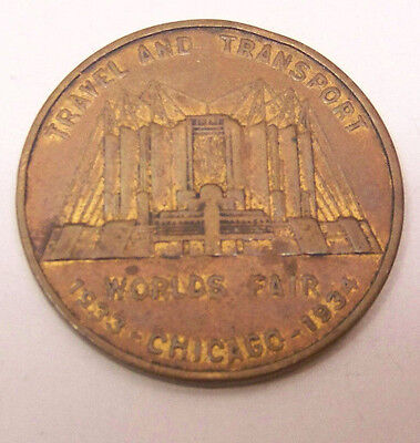 1933-1934 Chicago World's Fair Travel and Transport Medal  XF