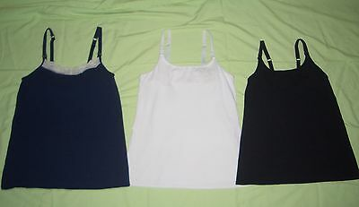 Lot of 3 Small Gilligan Blue Beige White Black Nursing Cami Tank Top