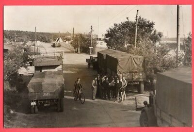 1949 Red Blockade of Berlin Trucks Backed Up at Helmstedt Germany News Photo