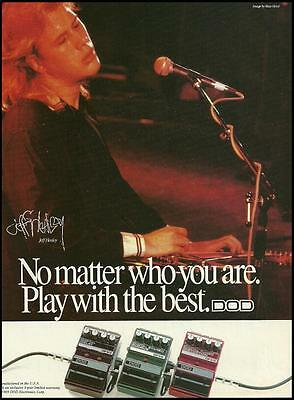 Jeff Healey 1989 DOD Digital Effects Pedals ad 8 x 11 advertisement print
