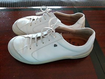 FINN Comfort White Leather Athletic Cusco Sneakers Shoes sz 40 8.5-9 M